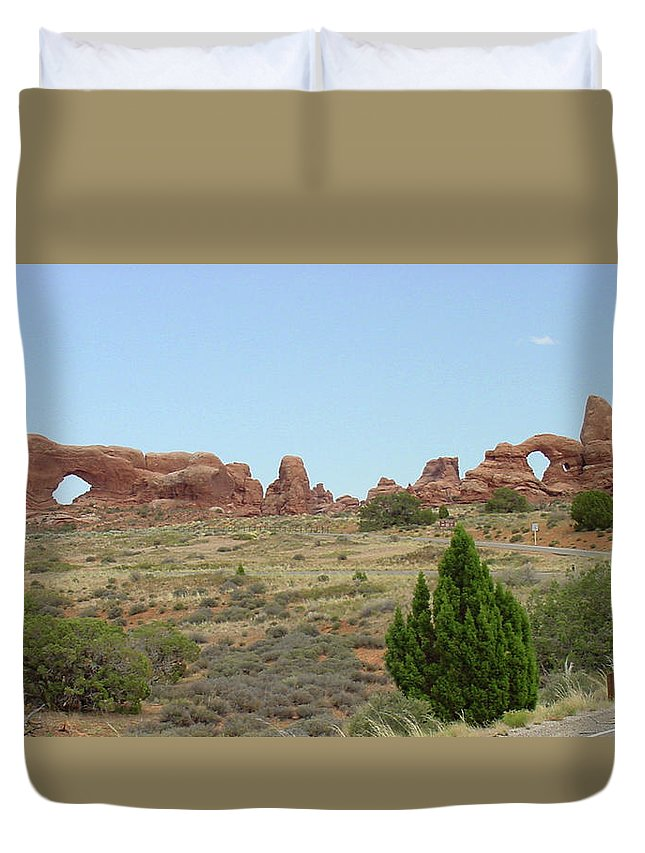 Arches National Park Duvet Cover featuring the photograph Arches National Park 21 by Dawn Amber Hood