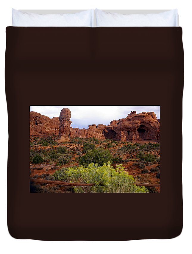 Southwest Art Duvet Cover featuring the photograph Arches Park 1 by Marty Koch