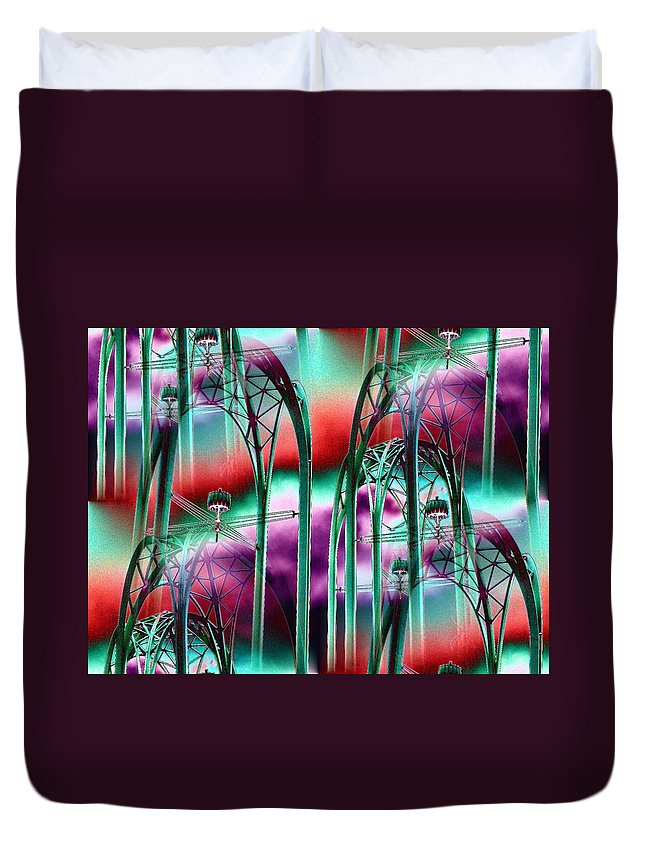 Seattle Duvet Cover featuring the digital art Arches by Tim Allen