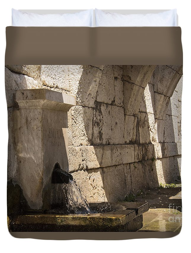 Izmir Smyrna Turkey Agora Ruin Roman Ruins Archaeological Site Stone Stones Arch Arches Structure Structures Architecture City Cities Cityscape Cityscapes Landmark Landmarks Duvet Cover featuring the photograph Arches Under The Agora by Bob Phillips
