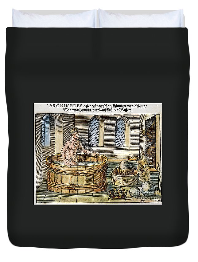3rd Century B.c. Duvet Cover featuring the photograph Archimedes by Granger