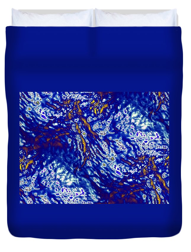 Abstract Duvet Cover featuring the digital art Archipelago by Tim Allen