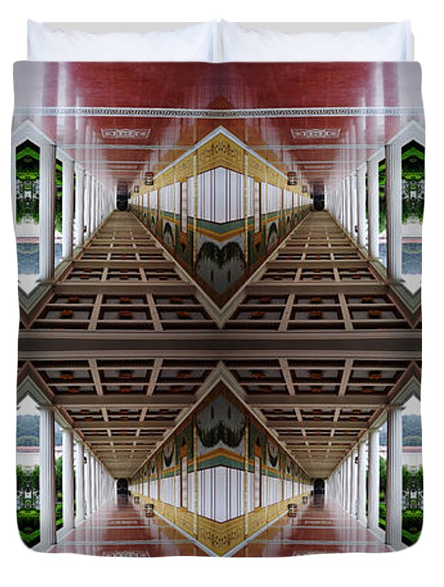 Clay Duvet Cover featuring the photograph Architectural Nightmare II by Clayton Bruster