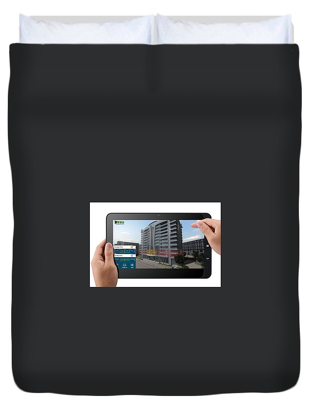 Virtual Reality Technology Duvet Cover featuring the digital art Architectural Virtual Reality by Yantram Studio
