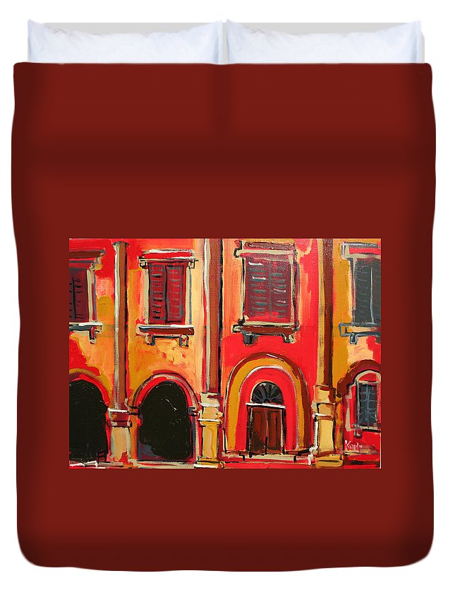 Tuscany Duvet Cover featuring the painting Arco Di Firenze by Kurt Hausmann
