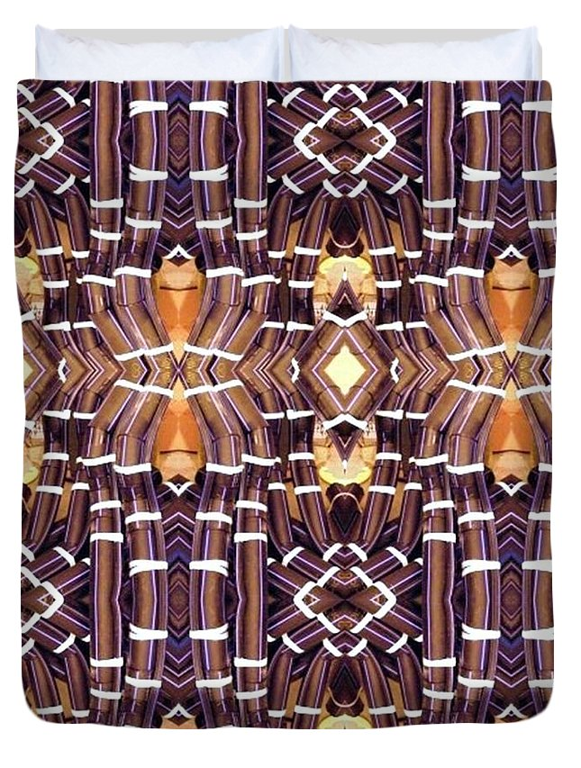 Abstract Duvet Cover featuring the digital art Arctic Pipe by Ron Bissett