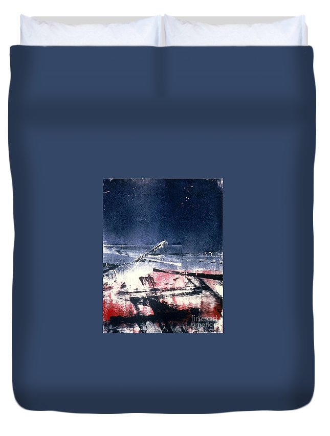 Landscape Duvet Cover featuring the painting Arctic by Richard Henderson