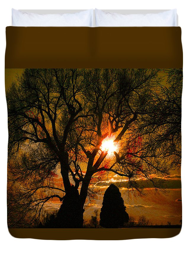 Sunset Duvet Cover featuring the photograph Arcus by Mykel Davis