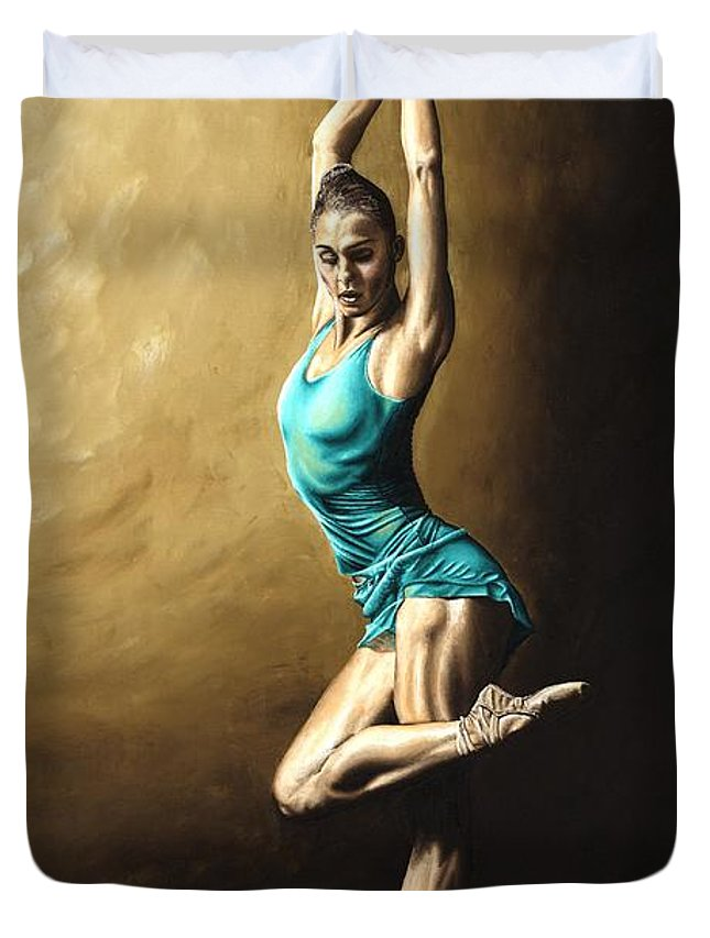 Dance Duvet Cover featuring the painting Ardent Dancer by Richard Young