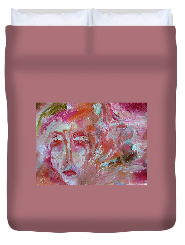 Abstract Duvet Cover featuring the painting Arent We Aging Well by Judith Redman