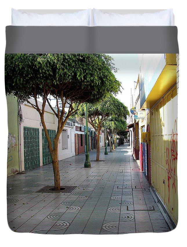 Arica Duvet Cover featuring the photograph Arica Chile by Brett Winn
