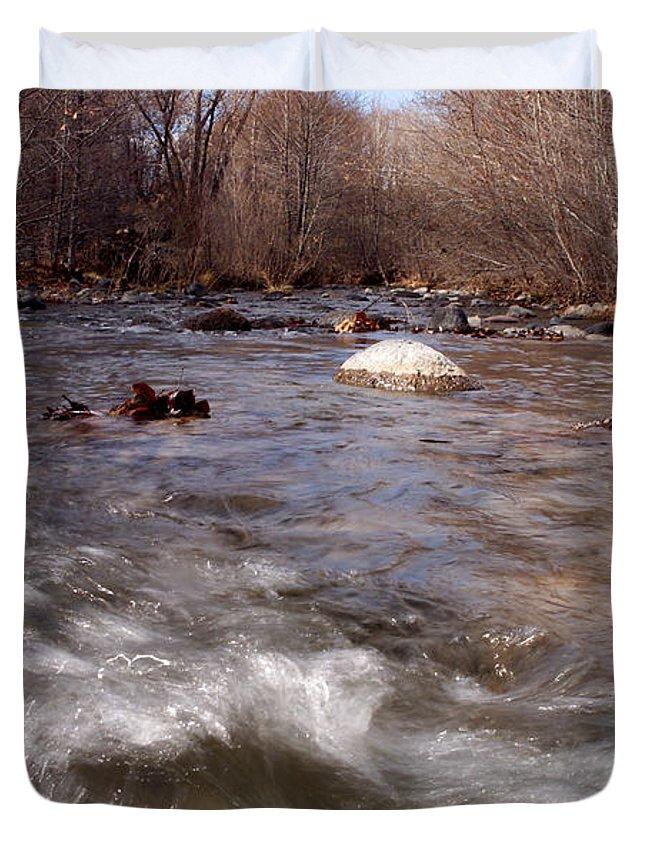 Creek Duvet Cover featuring the photograph Arizona Creek by Scott Sawyer