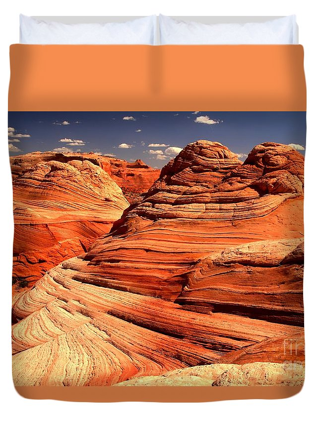 Coyote Buttes Duvet Cover featuring the photograph Arizona Desert Landscape by Adam Jewell