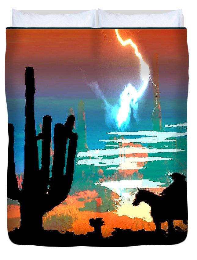 Arizona Duvet Cover featuring the photograph Arizona Skies by Ken Walker