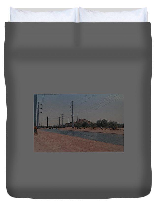 Arizona Duvet Cover featuring the photograph Arizona Waterway by Rob Hans