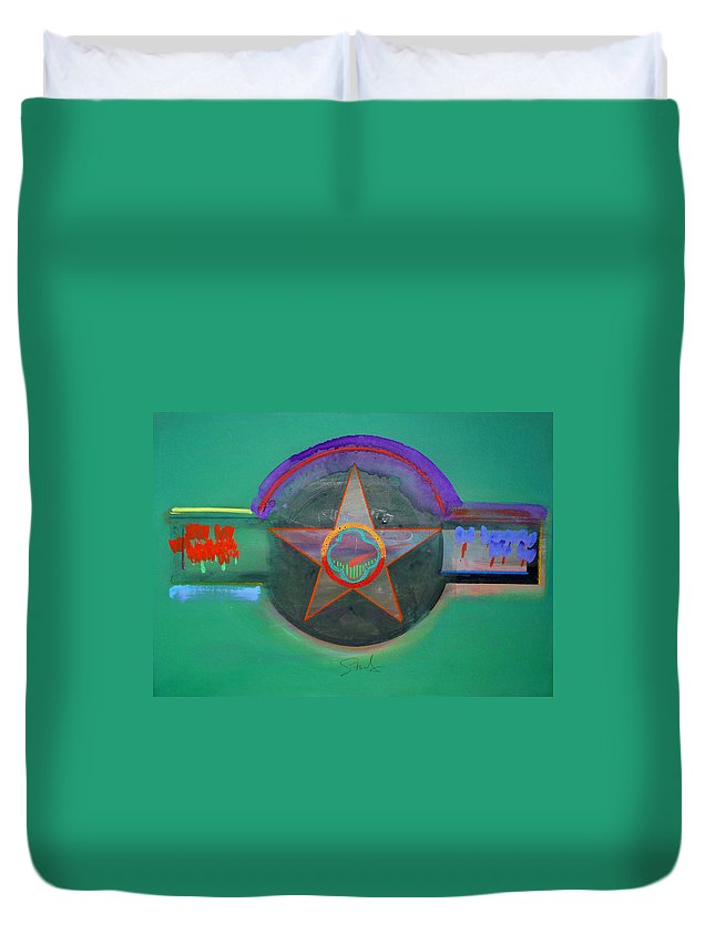Star Duvet Cover featuring the painting Arlington Green by Charles Stuart