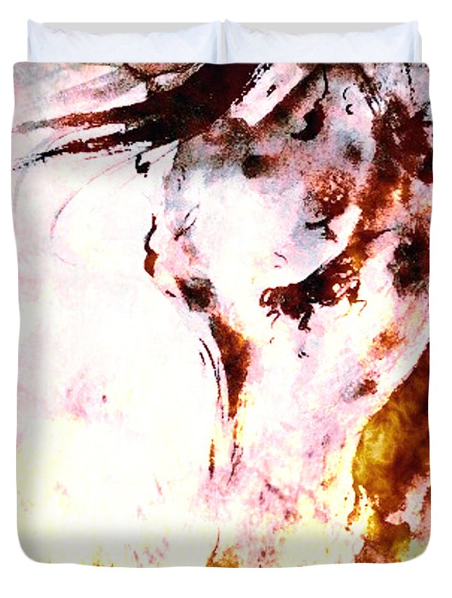 Fire Duvet Cover featuring the digital art Armageddon by Hannah Breidenbach