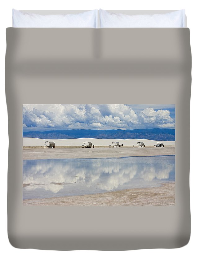 New Mexico Duvet Cover featuring the photograph Armageddon Picnic by Skip Hunt