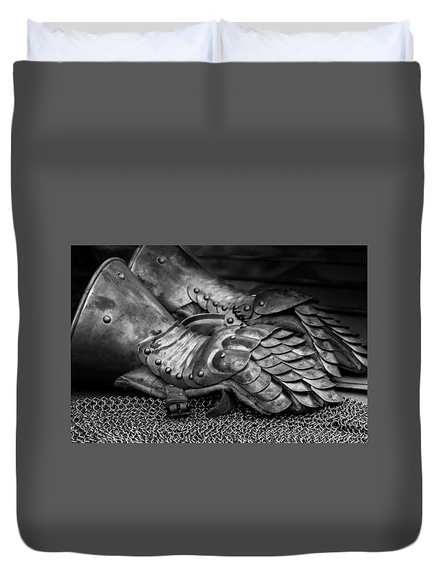 Armor Duvet Cover featuring the digital art Armor by Bert Mailer