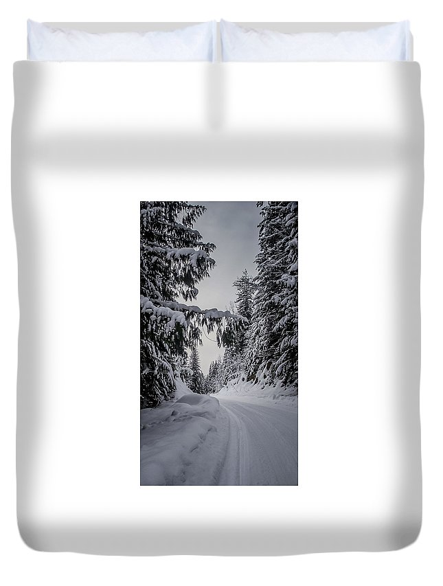Winter Duvet Cover featuring the photograph Around The Bend by Albert Seger
