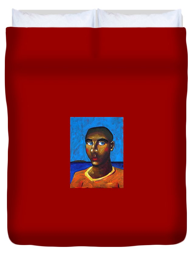 Arsonist Duvet Cover featuring the painting Arsonist by Dimitris Milionis