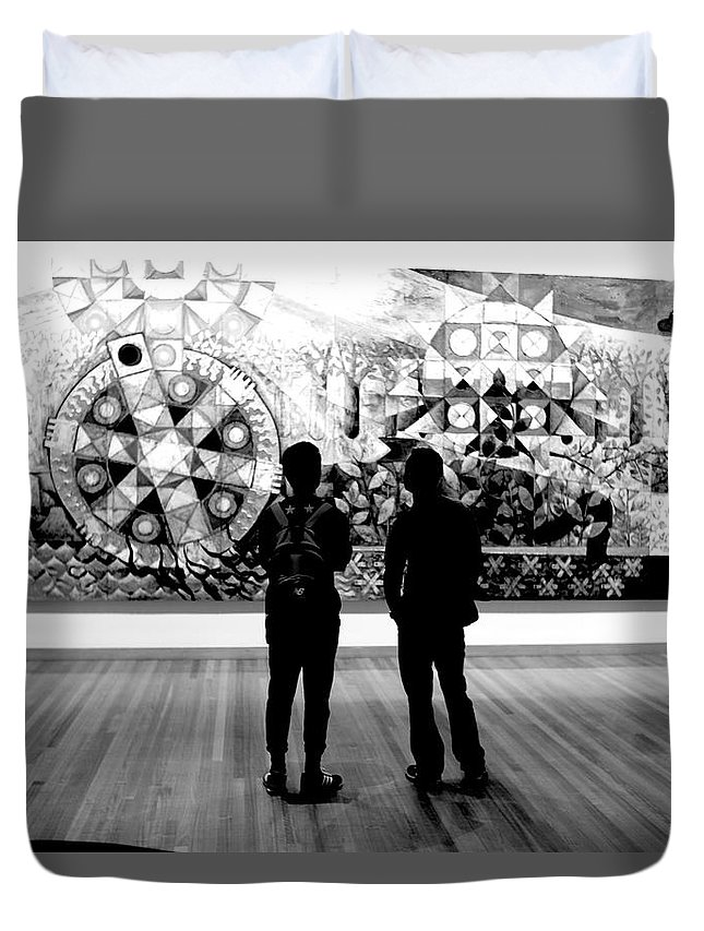 Art Critics Duvet Cover featuring the photograph Art Critics by Win Naing