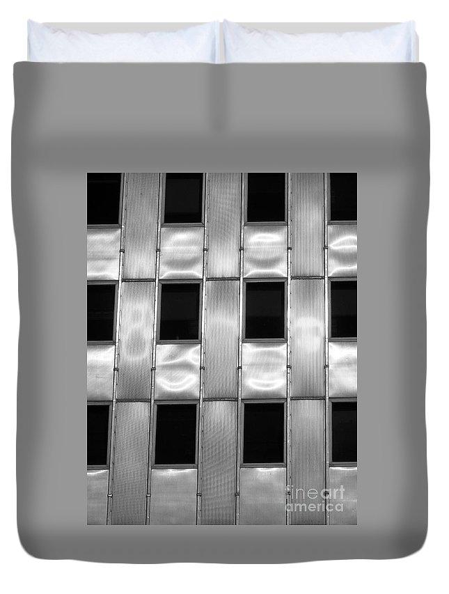 Detail Duvet Cover featuring the photograph Art Deco Building by Olivier Le Queinec