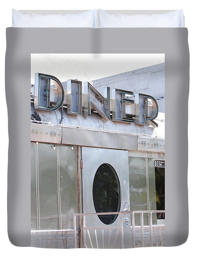 Architecture Duvet Cover featuring the photograph Art Deco Diner by Rob Hans