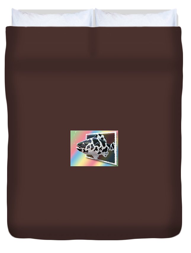 2d Duvet Cover featuring the photograph Art Fish Fun by Brian Wallace