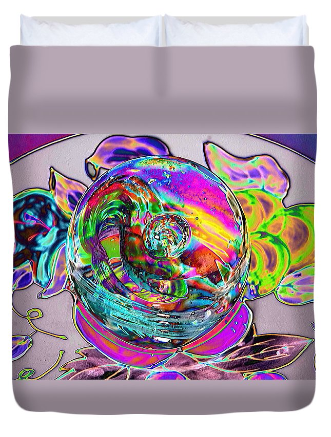 Duvet Cover featuring the photograph ART by Gerald Kloss