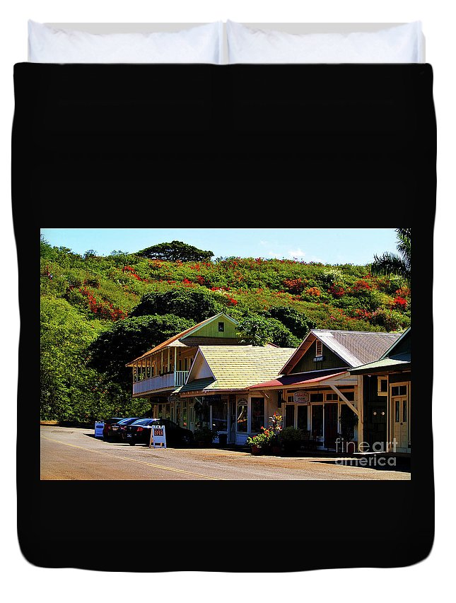 Hanapepe Duvet Cover featuring the photograph Art In Hanapepe by Patricia Griffin Brett