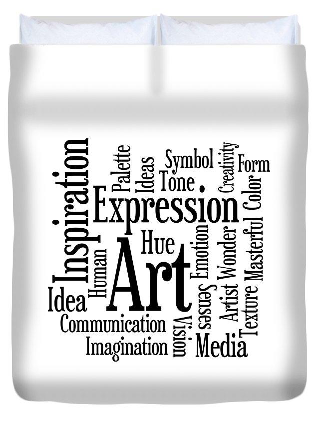 Artist Duvet Cover featuring the digital art Art Inspiration Creativity by Antique Images