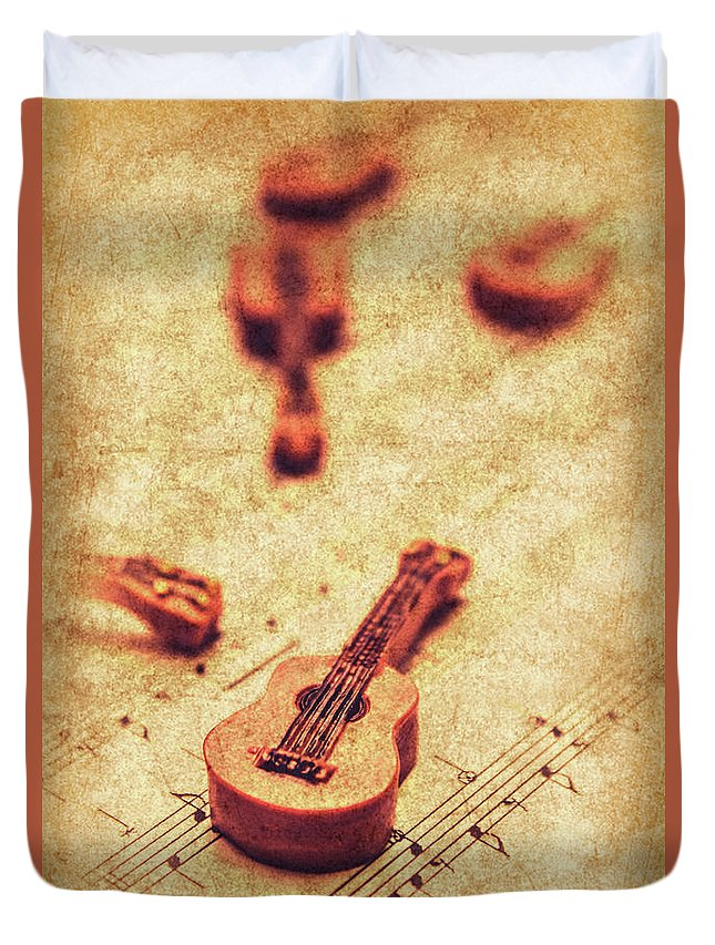 Vintage Duvet Cover featuring the photograph Art Of Classical Rock by Jorgo Photography - Wall Art Gallery