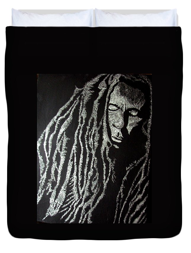 Portrait Duvet Cover featuring the painting Art of Freedom by Glory Fraulein Wolfe