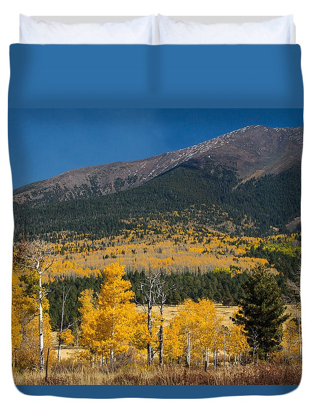 Fall Duvet Cover featuring the photograph Hart Prairie by Susan Westervelt