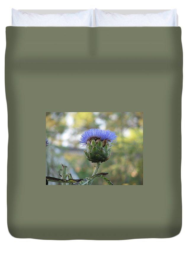 Artichoke Duvet Cover featuring the photograph Artichoke by Kelly Mezzapelle