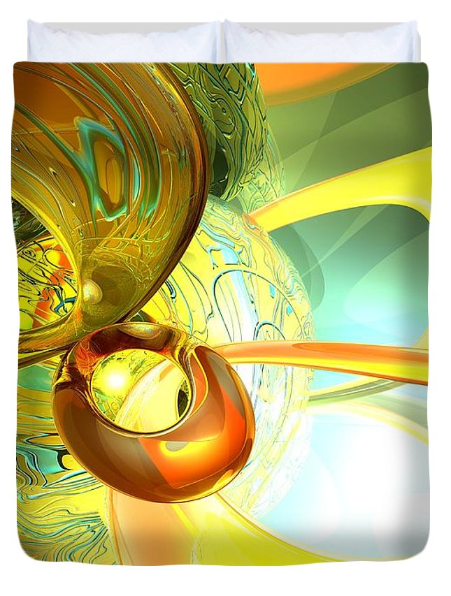 3d Duvet Cover featuring the digital art Articulate Design Abstract by Alexander Butler