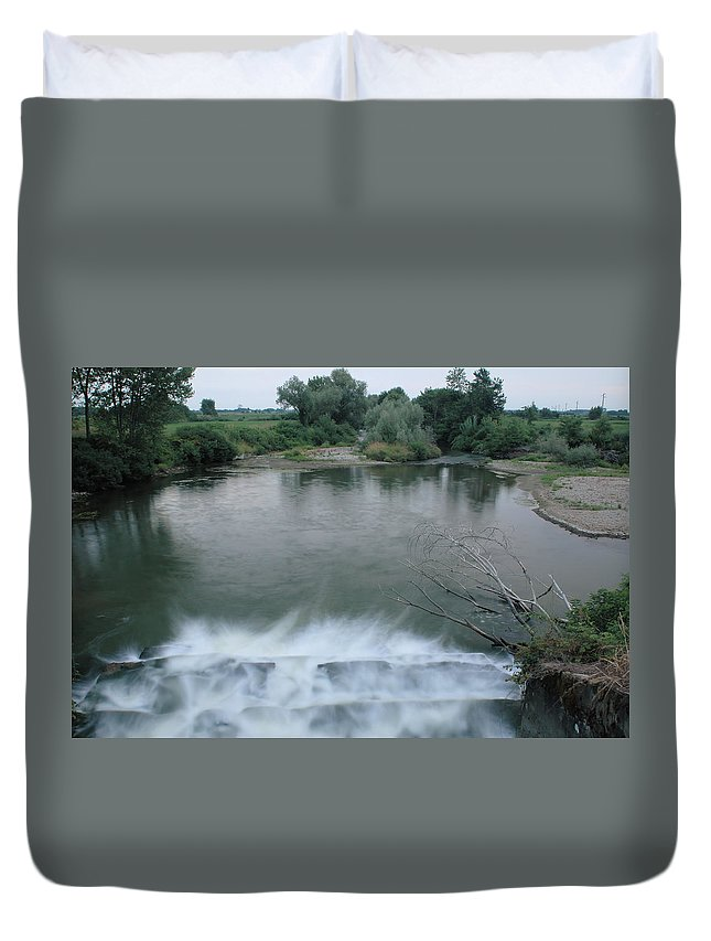 Water Duvet Cover featuring the photograph Artificial Fall by Guido Strambio