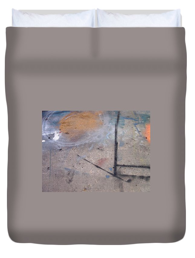 Artist Duvet Cover featuring the photograph Artist Sidewalk 2 by Anita Burgermeister