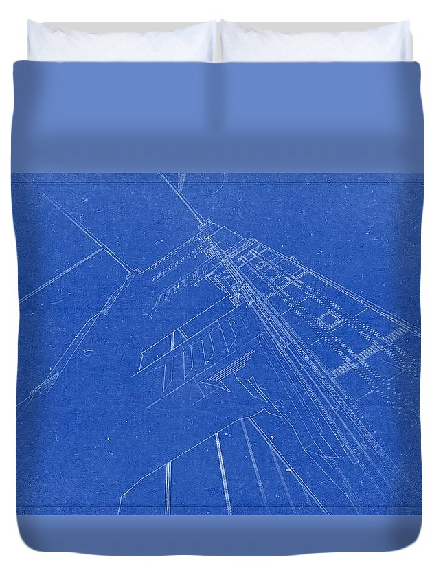 Artistic architecture blueprint drawing golden gate bridge duvet architectural blueprint font duvet cover featuring the painting artistic architecture blueprint drawing golden gate bridge malvernweather Gallery