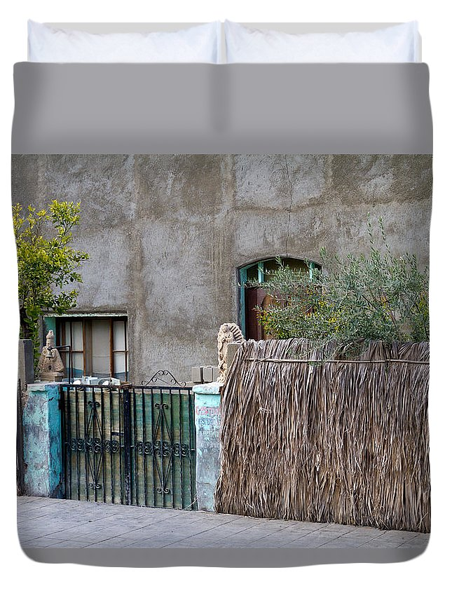 Decorative Duvet Cover featuring the photograph Artistic Entry by Bernard Barcos