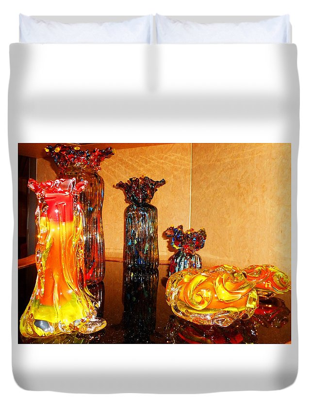 Glass Duvet Cover featuring the photograph Artistic Glass 2 by Ron Kandt