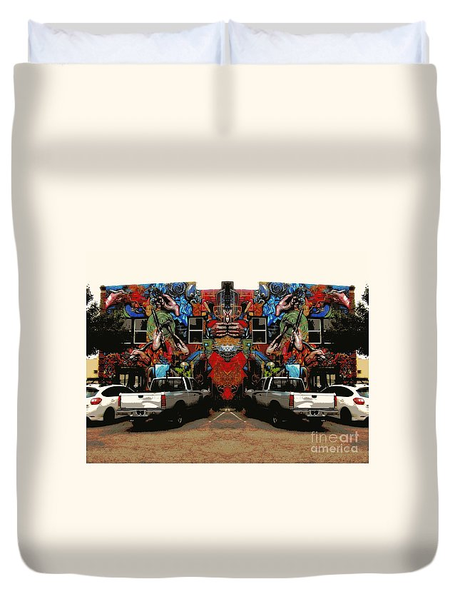 Duvet Cover featuring the photograph Artistry Abounds by Kelly Awad