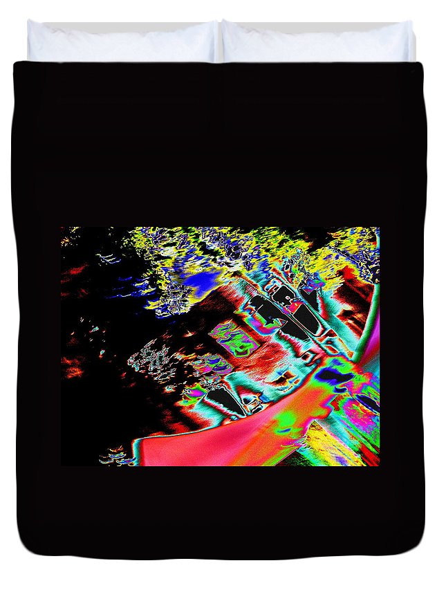 Seattle Duvet Cover featuring the photograph Artwalk Abstract by Tim Allen