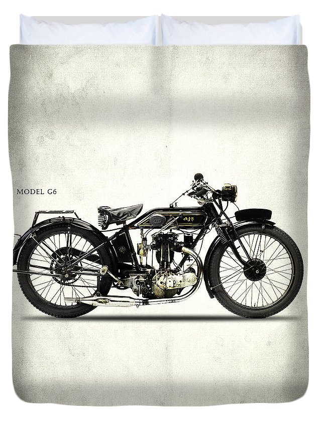 Ajs Duvet Cover featuring the photograph Ajs Model G6 1926 by Mark Rogan