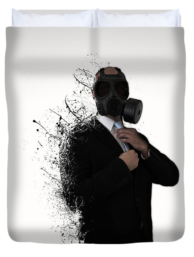 Gas Duvet Cover featuring the photograph Dissolution of man by Nicklas Gustafsson