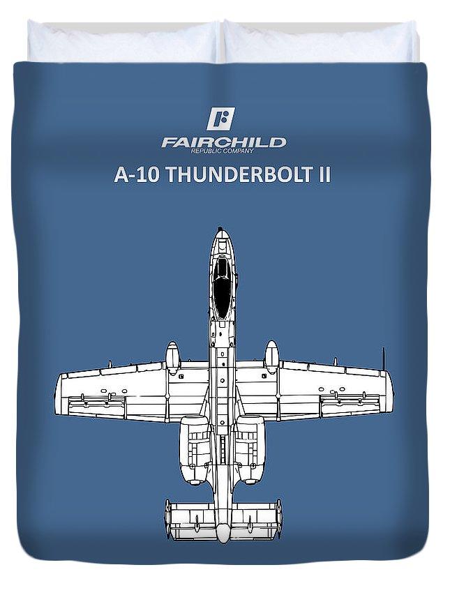 A-10 Thunderbolt Duvet Cover featuring the photograph The A-10 Thunderbolt by Mark Rogan