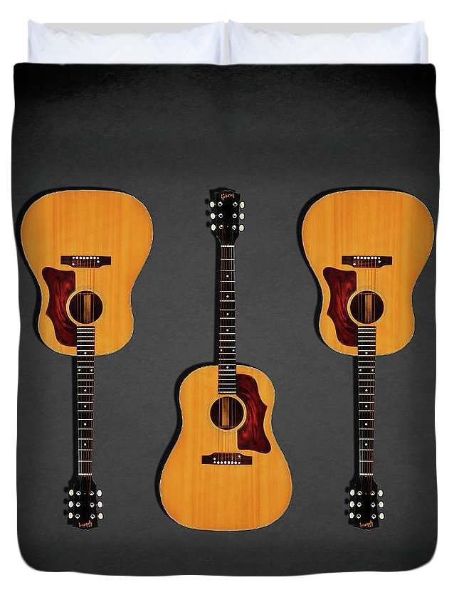 Gibson J-50 Duvet Cover featuring the photograph Gibson J-50 1967 by Mark Rogan