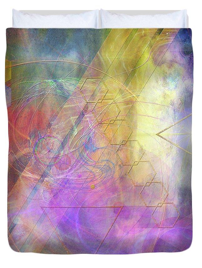 Morning Star Duvet Cover featuring the digital art Morning Star by John Beck