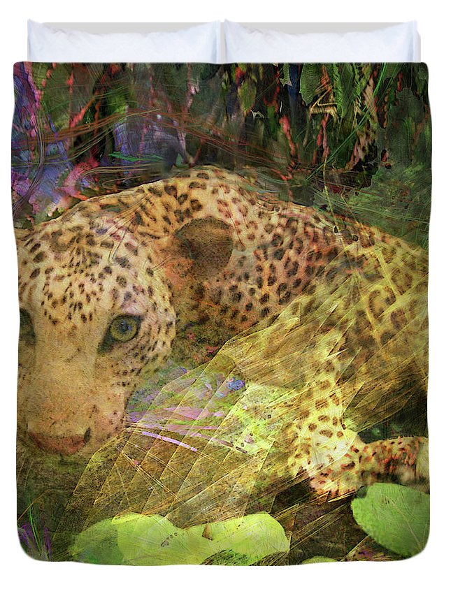 Game Spotting Duvet Cover featuring the digital art Game Spotting by John Beck